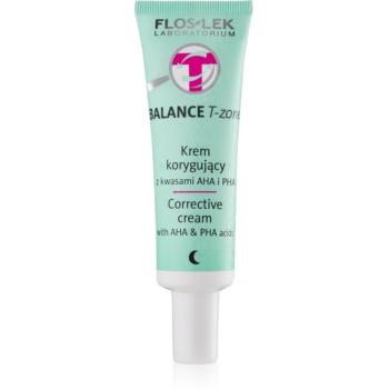 FlosLek Laboratorium Balance T-Zone cremă corectoare de noapte pentru ten mixt