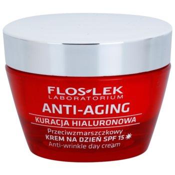 Fotografie FlosLek Laboratorium Anti-Aging Hyaluronic Therapy denní hydratační krém proti stárnutí pleti SPF 15 50 ml
