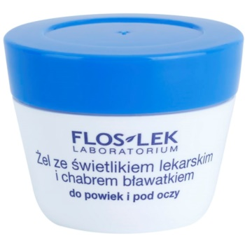 FlosLek Laboratorium Eye Care Gel pentru jurul ochilor cu un luminator și albastrele