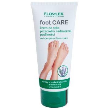 FlosLek Laboratorium Foot Care krema za noge proti prekomernemu potenju