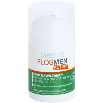 FlosLek Laboratorium FlosMen Active хидратиращ крем  за нормална кожа, склонна към раздразнения