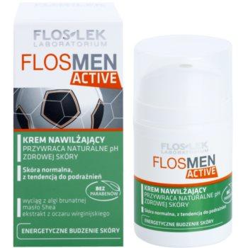 FlosLek Laboratorium FlosMen Active хидратиращ крем  за нормална кожа, склонна към раздразнения 1