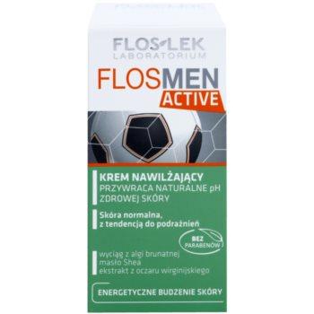 FlosLek Laboratorium FlosMen Active хидратиращ крем  за нормална кожа, склонна към раздразнения 2