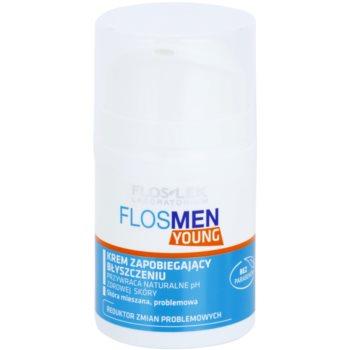 FlosLek Laboratorium FlosMen Young crema pentru piele lucioasa cu pori dilatati
