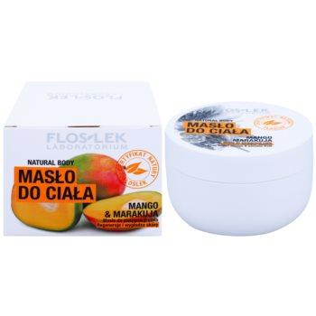 FlosLek Laboratorium Natural Body Mango & Passion Fruit regenerierende Körperbutter mit glättender Wirkung 2