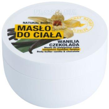 FlosLek Laboratorium Natural Body Vanilla & Chocolate масло для тіла з відновлюючим ефектом
