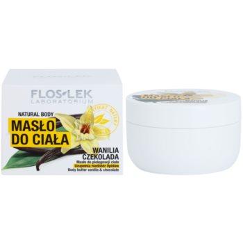 FlosLek Laboratorium Natural Body Vanilla & Chocolate масло для тіла з відновлюючим ефектом 2
