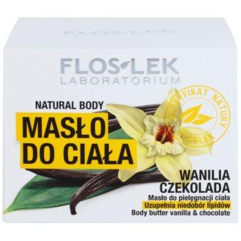FlosLek Laboratorium Natural Body Vanilla & Chocolate масло для тіла з відновлюючим ефектом 3