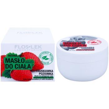 FlosLek Laboratorium Natural Body Strawberry & Wild Strawberry поживне масло для тіла 2