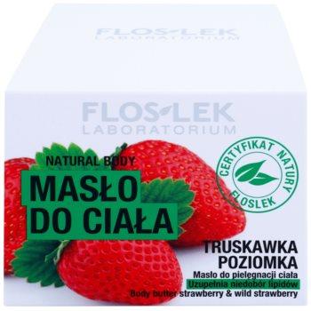 FlosLek Laboratorium Natural Body Strawberry & Wild Strawberry поживне масло для тіла 3
