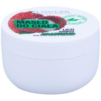 FlosLek Laboratorium Natural Body Lychee & Watermelon nährende Body-Butter mit feuchtigkeitsspendender Wirkung