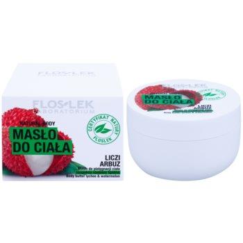 FlosLek Laboratorium Natural Body Lychee & Watermelon nährende Body-Butter mit feuchtigkeitsspendender Wirkung 1