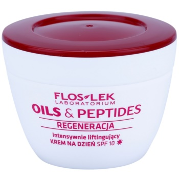FlosLek Laboratorium Oils & Peptides Regeneration 60+ crema intensiva pentru lifting SPF 10