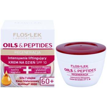 FlosLek Laboratorium Oils & Peptides Regeneration 60+ creme intensivo com efeito lifting SPF 10 1