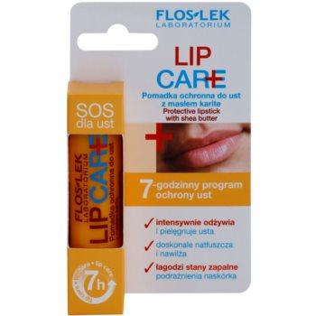 FlosLek Laboratorium Lip Care SOS защитен балсам за устни с масло от шеа 3