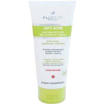 FlosLek Pharma Anti Acne antibakterijski čistilni gel brez parabenov