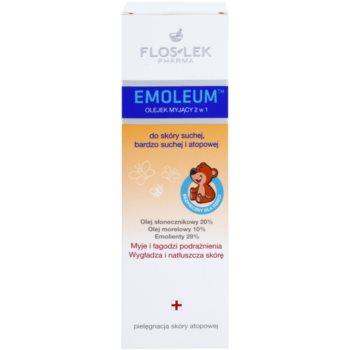 FlosLek Pharma Emoleum душ-олио за чувствителна кожа 2 в 1 2