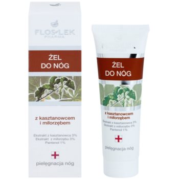 FlosLek Pharma Leg Care Horse Chestnut & Ginkgo Biloba gel refrigerante  para pés cansados 1