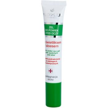 FlosLek Pharma Eye Care Gel pentru jurul ochilor cu un luminator și aloe vera