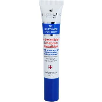 FlosLek Pharma Eye Care Gel pentru jurul ochilor cu un luminator și albastrele