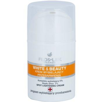 FlosLek Pharma White & Beauty crema cu efect de albire pentru tratament local