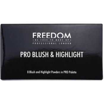 Freedom Pro Blush Bronze and Baked палитра контури за лице 2