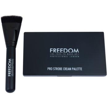 Freedom Pro Cream Strobe палетка для контурування зі щіточкою 1