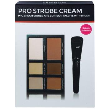 Freedom Pro Cream Strobe палетка для контурування зі щіточкою 2