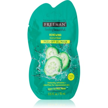 Freeman Feeling Beautiful masca faciala exfolianta pentru ten obosit Cucumber  15 ml