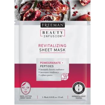 Freeman Beauty Infusion Pomegranate + Peptides mască textilă revitalizantă pentru toate tipurile de ten