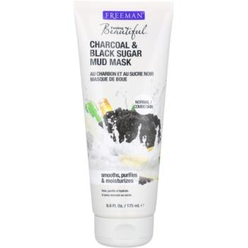 Freeman Feeling Beautiful masca cu namol pentru piele normala si mixta Charcoal & Black Sugar  175 ml