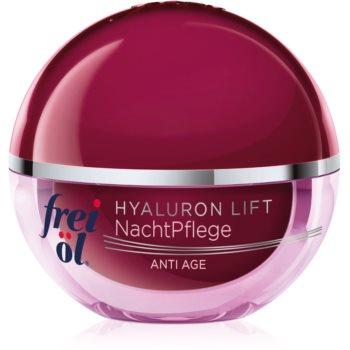 frei öl Anti Age Hyaluron Lift crema de noapte regeneratoare pentru fermitate antirid