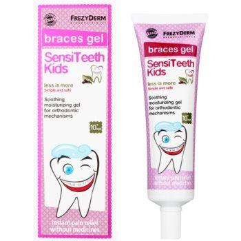 Frezyderm SensiTeeth Kids успокояващ гел за венци за хора, използващи фиксачни шини 1
