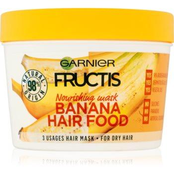 Garnier Fructis Banana Hair Food masca hranitoare pentru par uscat  390 ml
