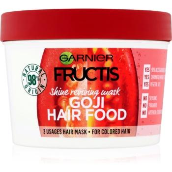 Garnier Fructis Goji Hair Food mască pentru redarea luciului părului vopsit poza noua