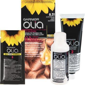 Garnier Olia Haarfarbe Farbton 8.31 Golden Ashy Blonde