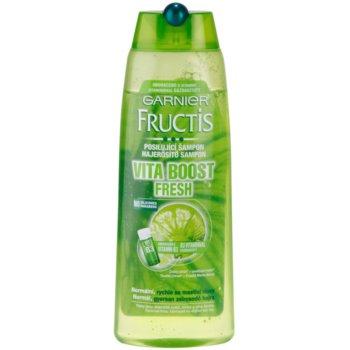 Garnier Fructis Fruit Explosions sampon fortifiant pentru par normal spre gras