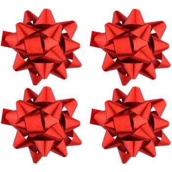 Giftino Wrapping stea adezivă decorativă - mică, lucioasă, 4 bucăți