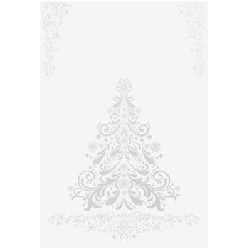 Giftino Wrapping  Felicitare de Crăciun copac argintiu fără text (A6)