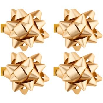 Giftino Wrapping  stea adezivă decorativă – mică, lucioasă, 4 bucăți