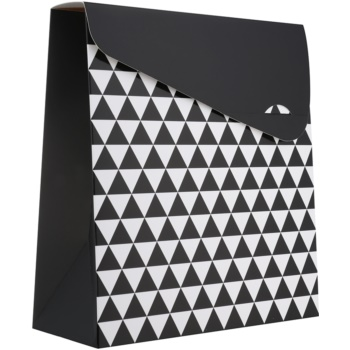Giftino 1 buc Pungă cadou, model geometric - mare (140 x 40 x 210 mm)