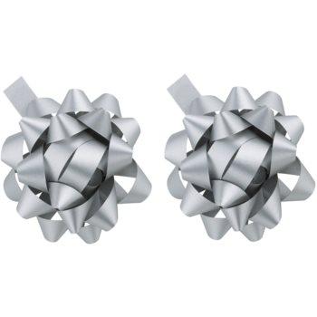 Image of Giftino Gift Decoration Star Silver, 2pcs