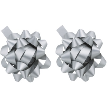 Giftino Wrapping decorațiune Star argintiu, 2 bucăți