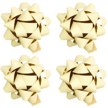 Giftino Wrapping  stea adezivă decorativă – mică, mată, 4 bucăți