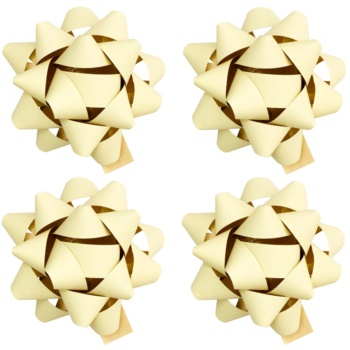Giftino Wrapping stea adezivă decorativă - mică, mată, 4 bucăți