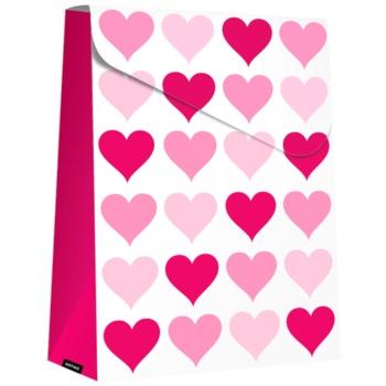 Giftino Pungă cadou Pink Hearts (140 x 40 x 210 mm)
