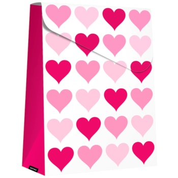Giftino Wrapping Pungă cadou Pink Hearts