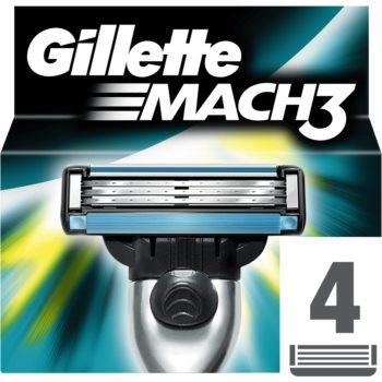 Fotografie Gillette Mach 3 Spare Blades náhradní břity 4 ks