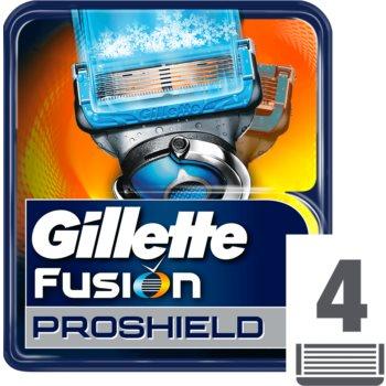 Gillette Fusion Proshield náhradní břity 4 ks