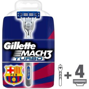 Gillette Mach 3 Turbo FCBarcelona aparat de ras rezerva lama 4 pc